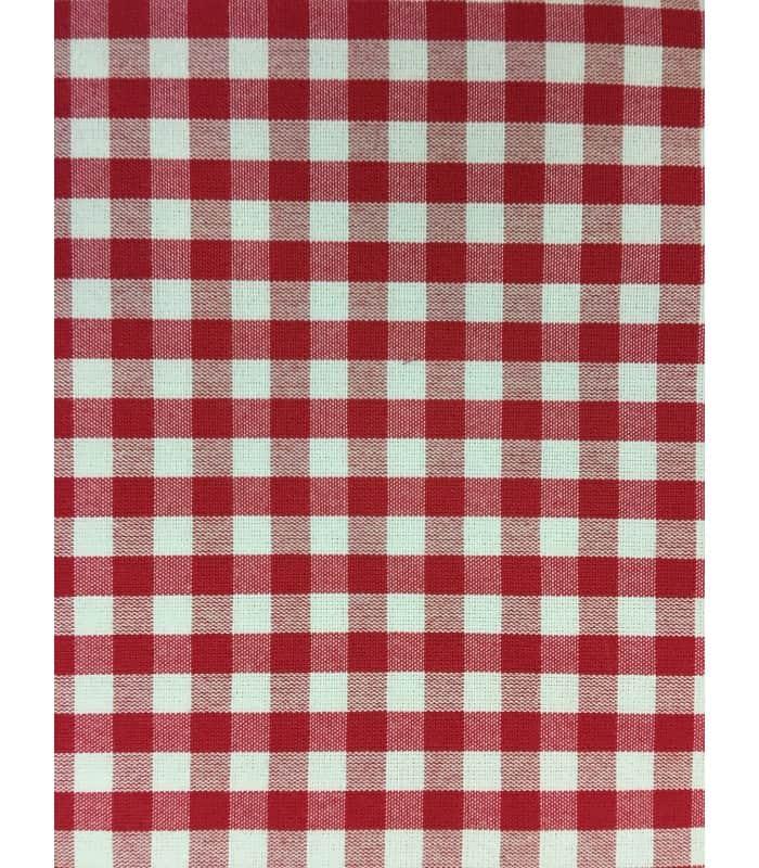 Tissu Petits Carreaux Rouge Tissé 1512 Atelierdeladecocom