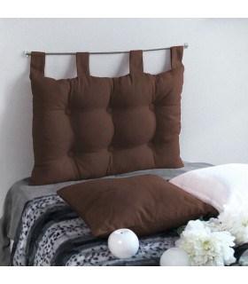 Tête de lit capitonné chocolat