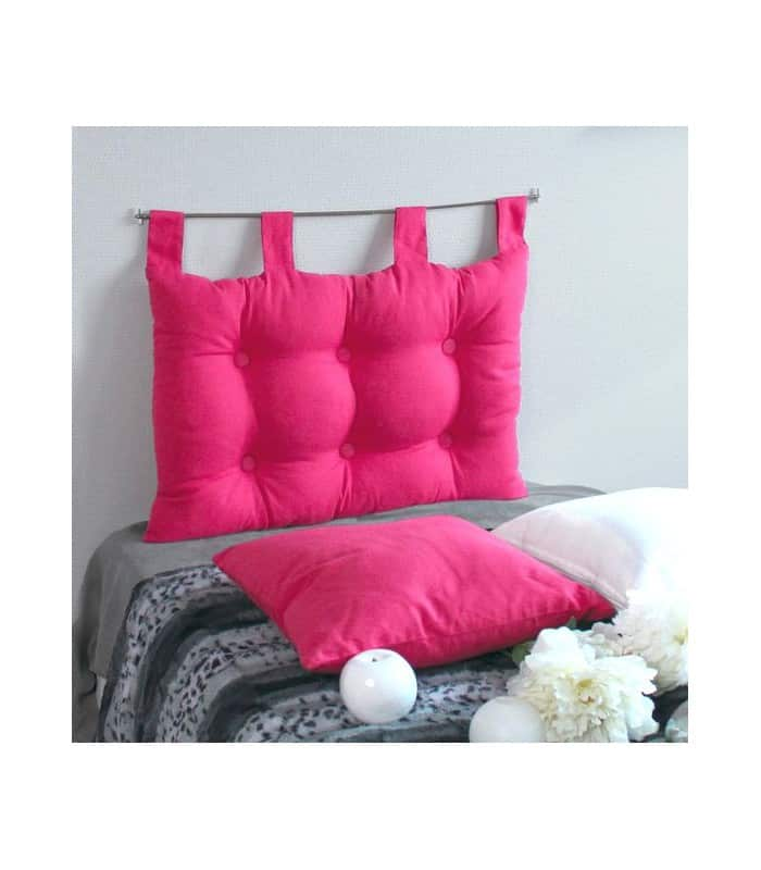 t te de lit brides capitonn e rose fuchsia. Black Bedroom Furniture Sets. Home Design Ideas
