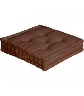 Coussin de sol uni chocolat
