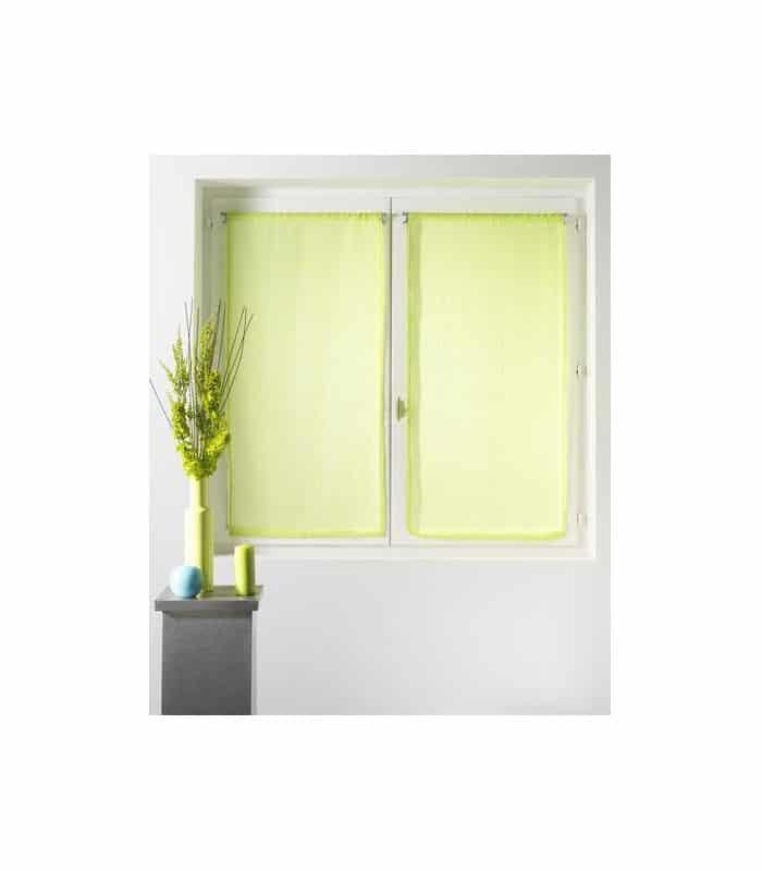 petit rideau vitrage etamine uni. Black Bedroom Furniture Sets. Home Design Ideas