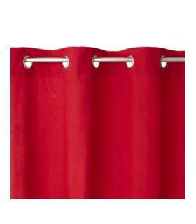 Rideau uni rouge