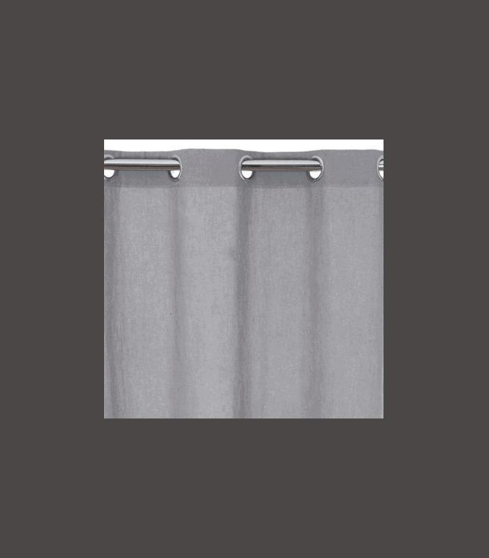 Rideau bachette gris pas cher