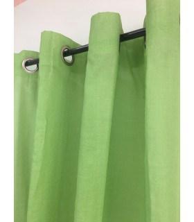 Voilage étamine vert anis
