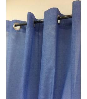Voilage étamine bleu