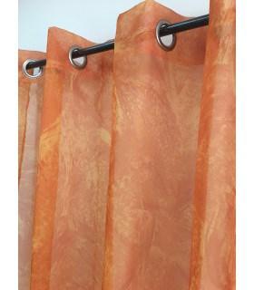 Voilage orange voile imprimé