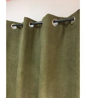 Rideau Vert olive Uni Phonique, Isolant, Thermique et Occultant