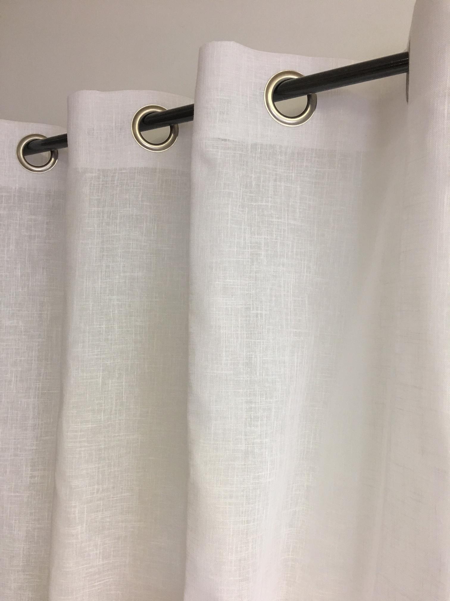 Comment Installer Rideau Et Voilage voilage chic aspect lin blanc