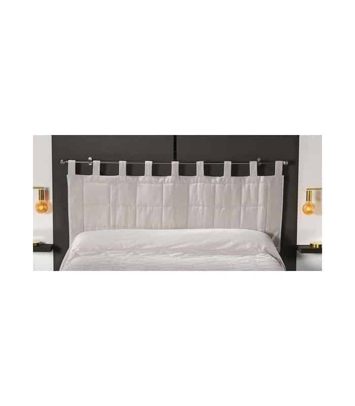 t te de lit matelass e brides cru 59 60. Black Bedroom Furniture Sets. Home Design Ideas