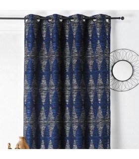 Rideau ambiance apache bleu