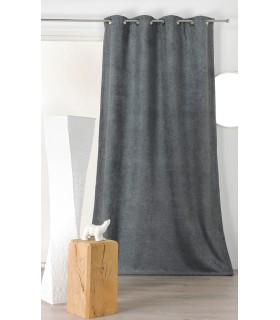 Rideau velours isolant et phonique gris anthracite