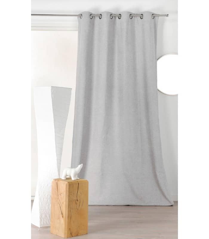rideau velours isolant et phonique blanc cass. Black Bedroom Furniture Sets. Home Design Ideas