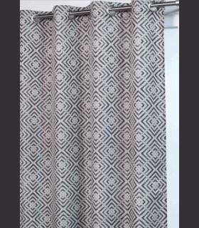 Rideau motifs dessin géométrique