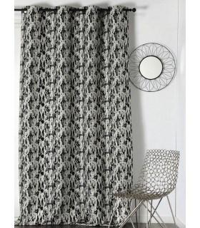 Rideau motif tache abstraite ambiance design