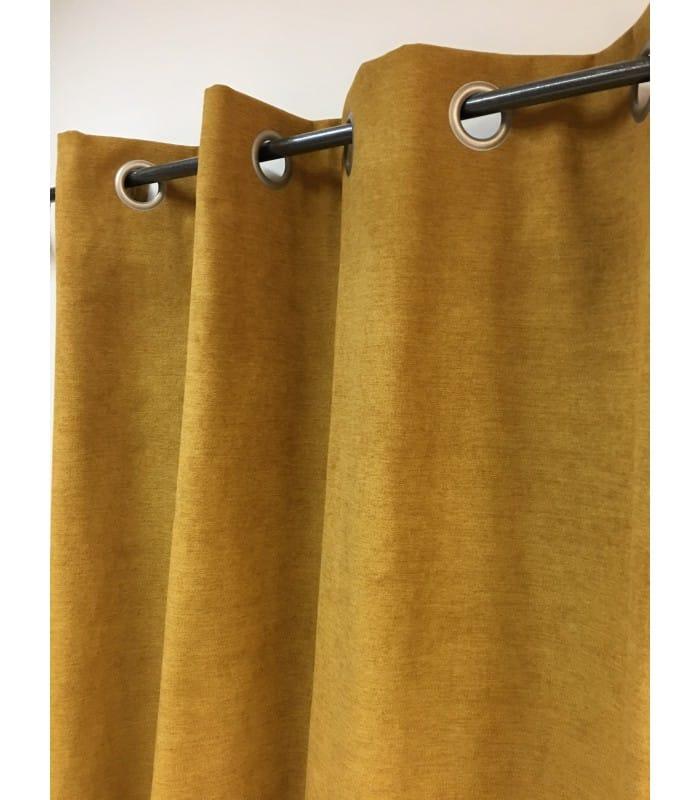 rideau moutarde isolant thermique occultant uni. Black Bedroom Furniture Sets. Home Design Ideas