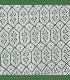 Boutis tendance motif fleur géométrique vert