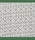 Boutis tendance motif fleur géométrique gris