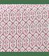 Boutis tendance motif fleur géométrique rose
