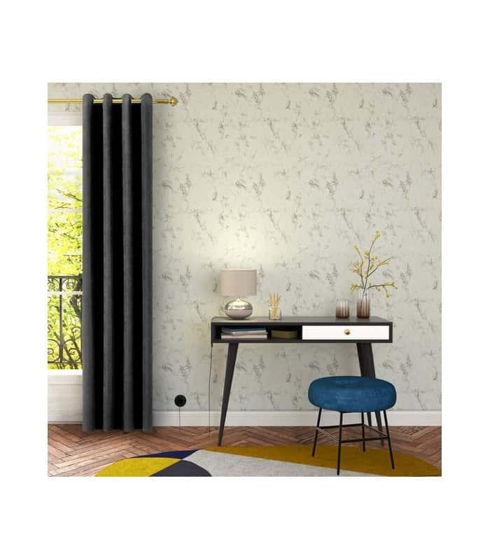 rideau gris anthracite aspect velours. Black Bedroom Furniture Sets. Home Design Ideas