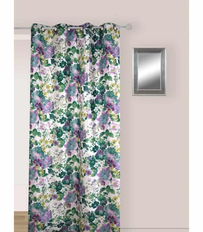 Rideau vintage motif violette