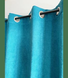 Rideau Turquoise Uni Phonique, Isolant, Thermique et Occultant