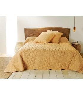 Jeté de lit  jaune maïs matelassé style provençal