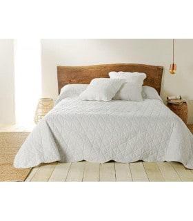 Jeté de lit  ivoire matelassé style provençal