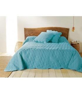 Jeté de lit  céladon matelassé style provençal
