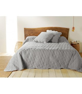 Jeté de lit  gris matelassé style provençal