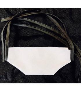 Masque protection tissu blanc lacet  (lot de 4)