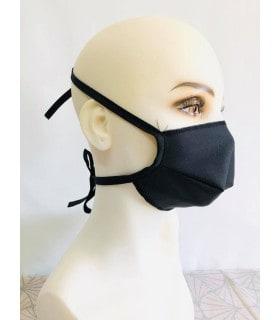 Masque protection tissu noir (lot de 10)
