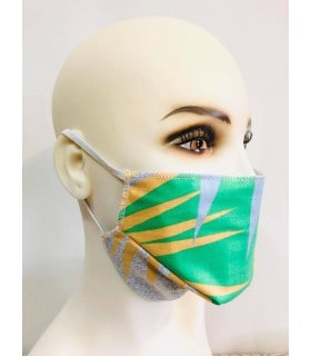 Lot de 4 masques protection tissu jungle élastique