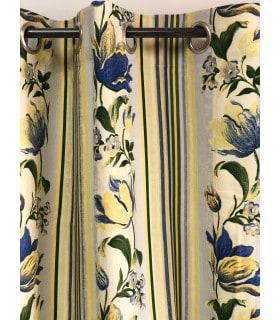 Rideau motif fleur jaune