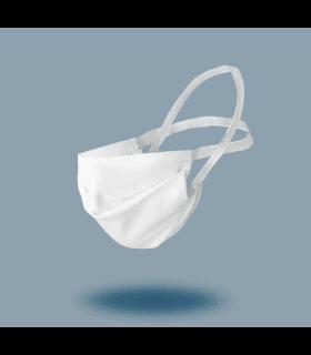 Lot de 4 masques tissu lavable blanc