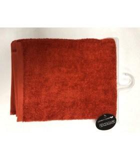 Drap de douche 70x130 cm couleur rouille