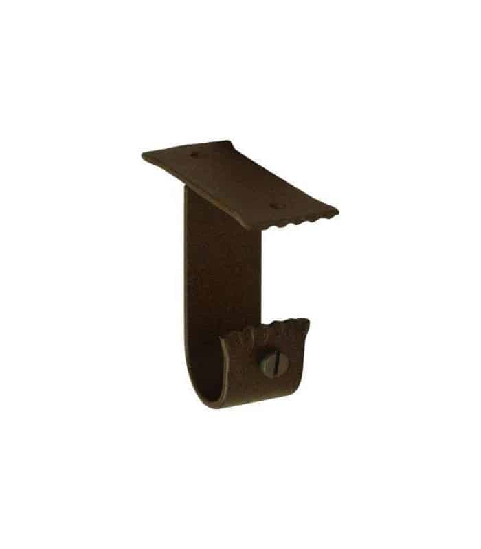 Support plafond fer forg rouille for Support fer forge