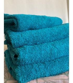 Drap de douche 70x130 cm couleur Bleu canard