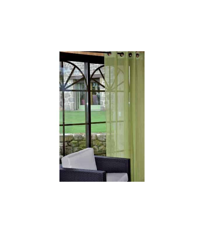 rideau voilage uni vert anis. Black Bedroom Furniture Sets. Home Design Ideas