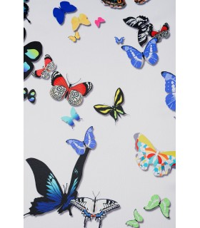 Rideau motifs papillons