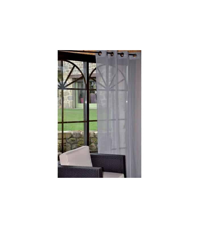 rideau voilage uni gris. Black Bedroom Furniture Sets. Home Design Ideas