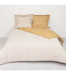 Housse de couette style coquillage