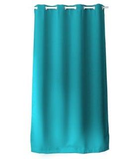 rideau occultant turquoise