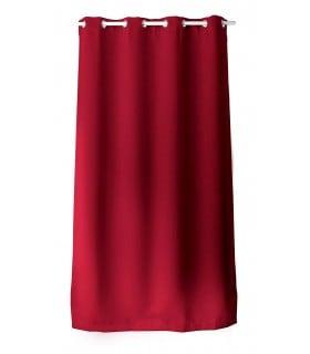 rideau occultant rouge