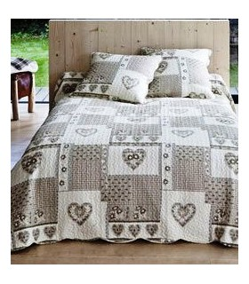 boutis beige et taupe plaid polyester motifs d xcm cosy taupe etoiles with boutis beige et. Black Bedroom Furniture Sets. Home Design Ideas