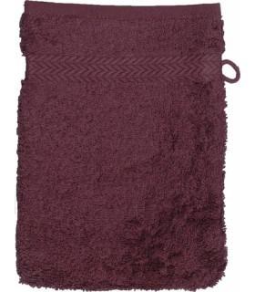 Gant de toilette 16x21 cm couleur Prune