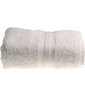 Serviette de toilette invité 30x50 cm couleur Blanc