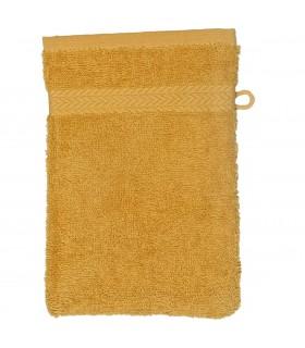 Gant de toilette 16x21 cm couleur Jaune moutarde